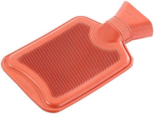 PEARL Bettflasche: Wärmflasche, Größe M, rot, 1 Liter (Waermflasche)