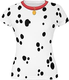 Dog Dalmatian Costume Red Collar All Over Juniors T-Shirt