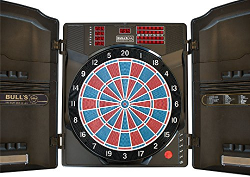 Elektronik Dartboard Bull's Master Score RB Sound Funktion bis Level 5. 38 Spiele mit 323 Variationen. Zubehör: 12 Darts, 40 Soft Tips,