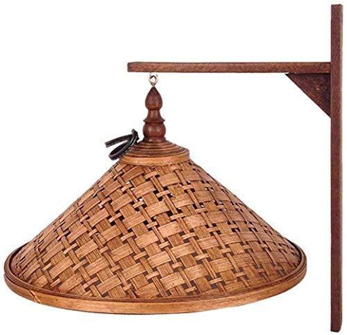 hsj WYQmm Lámpara de pared, iluminación de bambú, pasillo de dormitorio transicional, personalidad creativa, lámparas retro lámparas de pared de luz