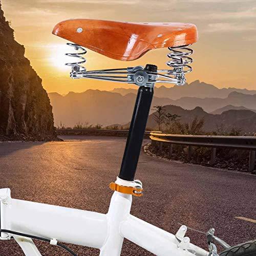 Sillín de Ciclismo, Remaches Asiento de Bicicleta de montaña de Piel de Vaca Sillín de Bicicleta con Llave de reparación Llave Hexagonal para Bicicleta