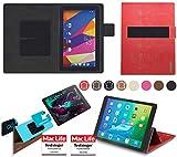 reboon Hülle für Captiva Pad 10 3G Plus Tasche Cover Case Bumper | in Rot Leder | Testsieger