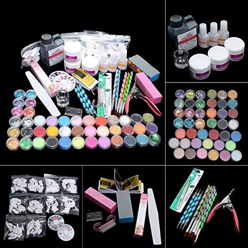 Szseven ღAcrylic Nail Kitღ Nail Art Tools Kit Combo Set DIY Nail Art Kit Acrylic Powder Shiny Glitter Nail Kit for Daily Nails Care