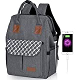 Arrontop Laptop Backpack With Usb Charging Port 15.6 Inch Wide Open Business Travel Bag Water Resistant School Stylish Rucksack Daypack For Men Women Student