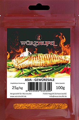 Asia - Gewürzsalz, asiatische Wok Gewürzmischung. Asia - Grillgewürz. Beutel 100g.