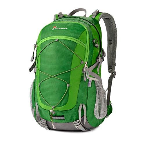 マウンテントップ(Mountaintop) バックパック 40L リュック 登山 ザック アウトドア 旅行用 バッグ リュックサック 防水 軽量 レインカバー付き (グリーン 40L)