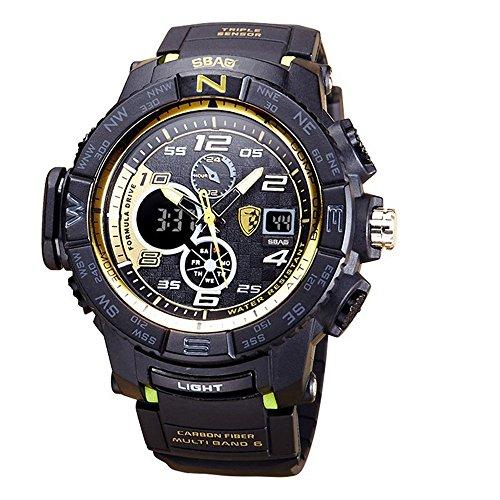 HWCOO SBAO Uhren Sport-Uhr der neuen Männer Tiefe wasserdichte Tauchens-Nachtlicht-Multifunktions-elektronische Uhr (Color : 5)