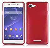 Cadorabo Case works with Sony Xperia E3 in RED –