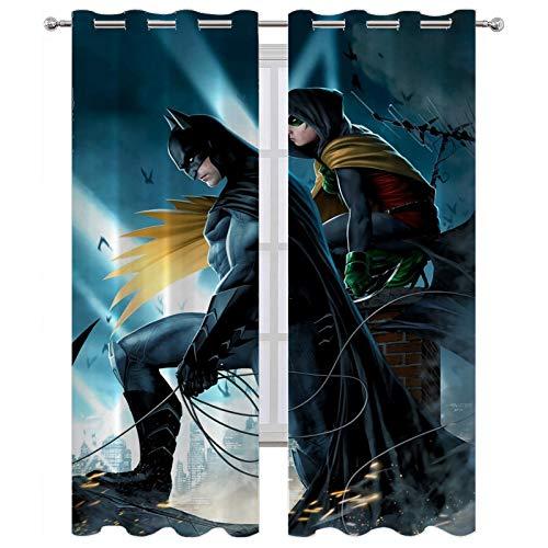 SSKJTC - Cortinas de bloqueo de luz (72 x 63 cm), diseño de Batman y Damian Wayne