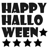 ハロウィン☆シール式ウォールステッカー halloween ハロウィーン かぼちゃ おばけ ランタン 怖い パーティ 文字 魔女 かわいい おしゃれ 大人 trick or treat ジャック・オ・ランタン お菓子 60×60cm 剥がせる カッティングシート wsm-016613-ws
