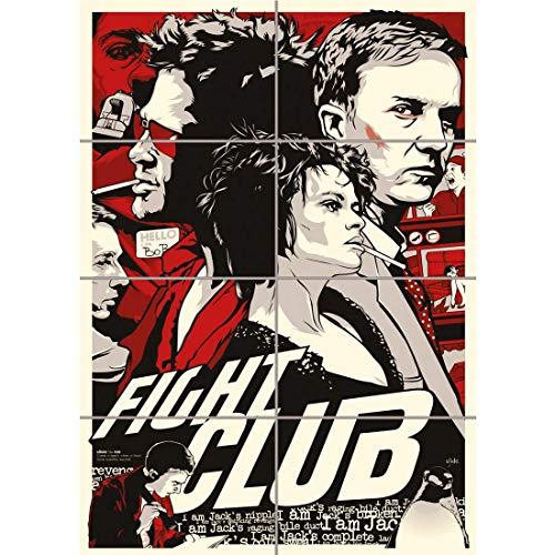 Doppelganger33 LTD Fight Club Brad Pitt Movie Film Illustration Wall Art Multi Panel d'affiche 33x47 Pouces