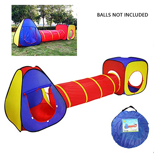 YMUUIHC 3 in 1 Pop Up Zelt Kleinkinder Crawl Tunnel,Spielzelt Kinderzelt,Beste Spielzeug Geschenke Für Kinder Mädchen Jungen,300 * 86Cm