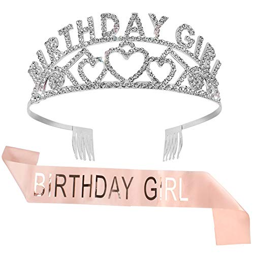 Ondder Birthday Sash It's My Birthday Sash Birthday Crown Birthday Party Decorations Happy Birthday Tiara and Sash Birthday Party Supplies Birthday Party Favors for Women Girls
