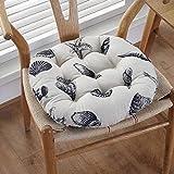 Cojín de futón de algodón y lino de estilo japonés con almohadilla de futón de Tatami redondo Bay Window Cojines