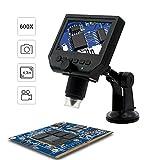 HD OLED de 4.3 Pulgadas Ajustable 600X microscopio Digital con batería de Litio Recargable microscopio de electrones Taza sunction para Laboratorios industriales Telefonía 3C