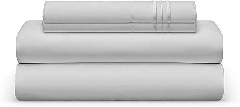 THE BEDSHEET CLUB Luxury Sheet Set, Split King, Light Silver, Ultra-Soft, Breathable, Cool & Wrinkle Free