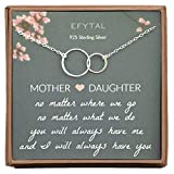 EFYTAL Gifts for Mom and Daughter, Sterling Silver Infinity Mother's...