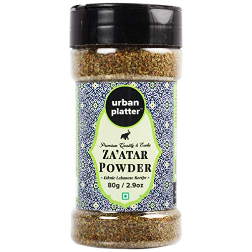 Urban Platter Zaatar Powder Shaker Jar, 80g / 2.8oz [All Natural, Herby, Traditional Lebanese Recipe]