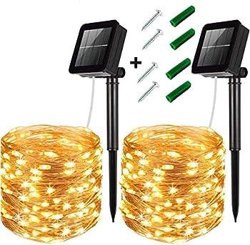 2-Pack LiyuanQ 120 LED Solar Fairy Lights