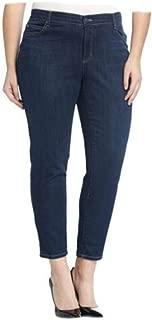 Eileen Fisher Organic Cotton Soft Strtch Denim Indigo Slim Ankle Jean 18