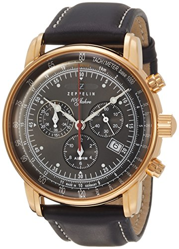 [ツェッペリン] 腕時計 100周年 86822 メンズ 正規輸入品 ブラック