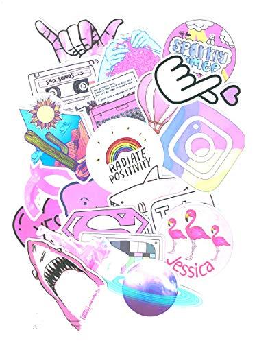 Top Stickers! Pack van 52 Roze Stickers - Sticker HD - Pas alles aan wat je wilt, Scrapbooking, DIY, Wall, Bike, Moto, Home, maatwerk, aanpassen