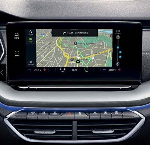 [2 Stück] SKTU für octavia 4 Infotainment Columbus 2020 2021 Navigation schutzfolie 10 Zoll GPS Navigation PET Schutzfolie Transparente Bildschirmschutzfolie