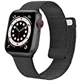 Wanme Correa Compatible con Apple Watch Correa 38mm 40mm 42mm 44mm, Pulsera de Repuesto de Metal de...