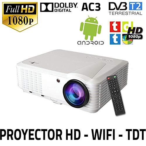Proyector con tdt modelo SG100, soporta AC3, MKV, AVI HD, lampara de led, 50.000 horas, 2 años de garantia (Android, TDT, HD)