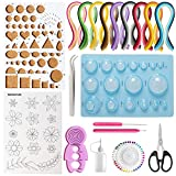 Paper Quilling Kits, Tiergrade 19 pcs Paper Quilling Tools and Supplies with 45 Colors 900 Strips for Quilling Beginners and Paper Art Craft Lovers,DIY Handcraft Quilling Set