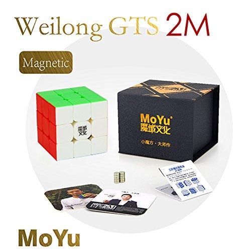 MoYu Weilong GTS2M 3x3x3 Magnetic Speed Cube stickerless