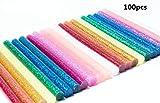 Colla a Caldo Glitter,Adesivo Colla a Caldo Pistola Bastoni 100 pezzi 7 * 100mm Colorato S...