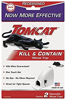 Tomcat Kill and Contain Mouse Trap 2-Pack 2Pack 4 Traps total