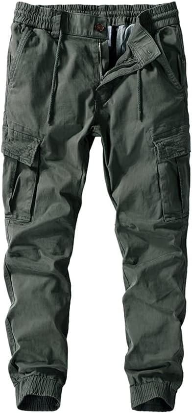 FOLGZ Men's Cargo Pants Fashion Clothing Military Pants Multi Po
