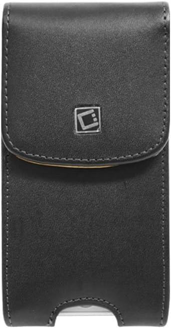 Cellet Vertical Noble Case For iPhone 5, 5S, SE (With Cellet Proguard On) With Cellet Removable Spring Belt Clip