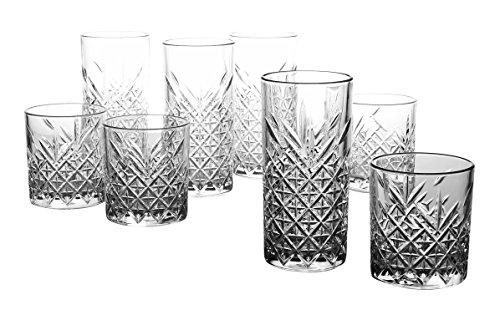Creatable 15459, Serie Timeless Gläserset, Glas, Transparent, 22 x 19 x 24 cm, 8-Einheiten