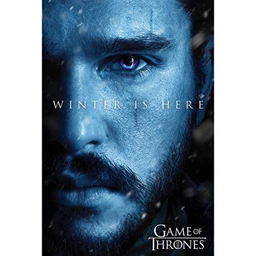 Poster Game of Thrones Winter is here Jon - Papier Glacé - 91x61cm