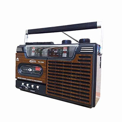ZXy Reproductor y Grabador de casetes de Radio Retro, Reproductor de casetes de Alta fidelidad con sintonización analógica de Radio Am/FM, Auriculares de 3,5 mm, micrófono Incorporado