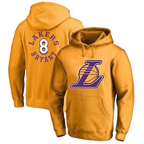 ERYUEN Männer Hoodie NBA Lakers 8# Kobe Bryant Trainingsanzug Basketball Hoodie Sport T-Shirt