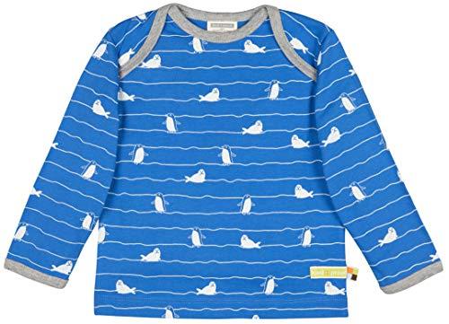 loud + proud Kinder-Unisex Shirt Druck Aus Bio Baumwolle, GOTS Zertifiziert Sweatshirt, Blau (Cobalt Cob), 68 (Herstellergröße: 62/68)