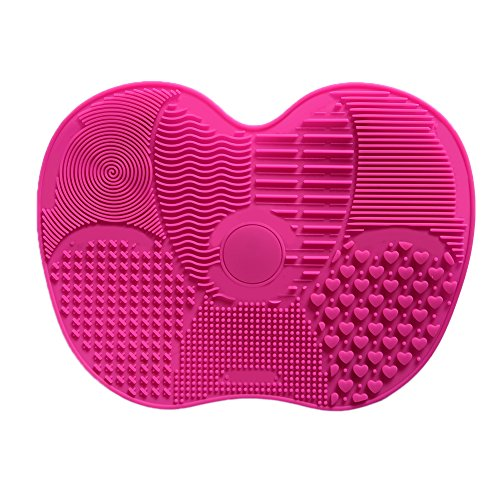 Silikon Make-up-Pinsel Reinigung Matte Saugnäpfen Pinsel Reinigungsmatte Brush Cleaner Kosmetik...