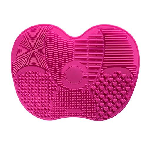 Silikon Make-up-Pinsel Reinigung Matte Saugnäpfen Pinsel Reinigungsmatte Brush Cleaner Kosmetik Pinsel Reinigung Gummimatte Molie