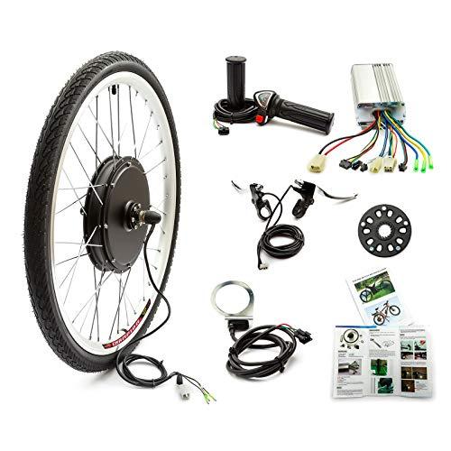 Bicicleta Eléctrica Rueda Delantera Kit de Conversión 48v 1000w 26 Inch Bicicleta...