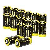 morpilot CR123A 3V Pilas, 16PCS CR123 1500mAh Baterías Desechables, Potencia Ultra y Rendimiento Alto, No Compatible con Arlo