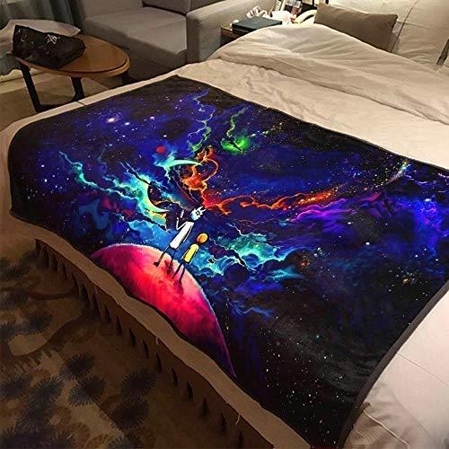 ASDIWON Rick and Morty Hochwertige warme weiche Flanell Plüsch auf der Schlafsofa Decke Geeignet für Klimaanlage Decke Nap Decke (E,60x80 in(150x200 cm))