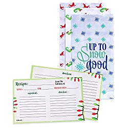 "3 Flour Sack Dish Towels and 25 4""x6"" double sided recipe cards!"