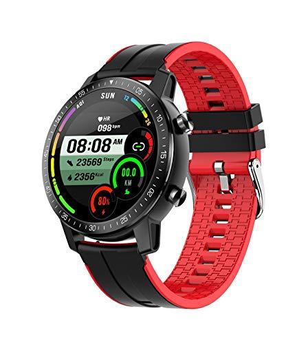 YDL Ritmo Cardíaco/Monitoreo De La Presión Arterial Smart Watch IP68 Hombres Impermeables Y Mujeres Sport Tracker Pulsera Inteligente (Color : Red)