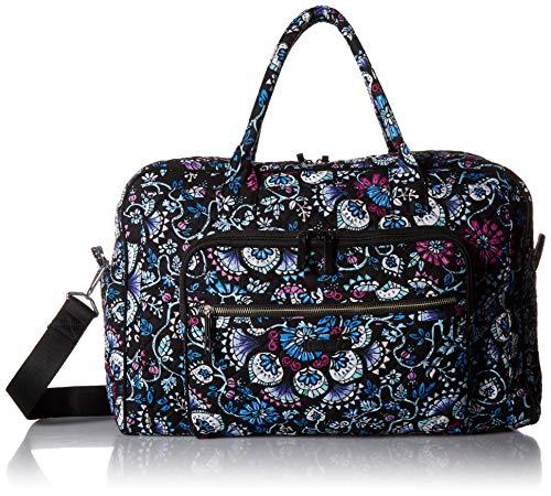 Vera Bradley Damen Iconic Weekender Travel Bag, Signature Cotton Reisetasche, Brombeerstrauch, Einheitsgröße