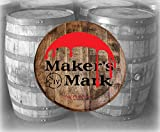 Bar Decor Makers Mark Wax Dipped Bourbon Whiskey Barrel Lid Wood Wall Art