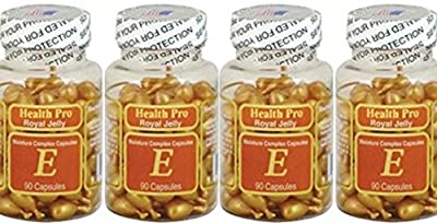 Cosmo Selection Royal Jelly Vitamin Facial Oil 90 Softgels -4pack
